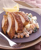 Photo of Indian chicken with spinach, potatoes, and chickpeas by WW