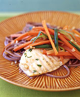 Photo of Lemon grass-poached tilapia with julienned vegetables by WW