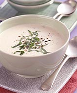 Photo of Chilled white bean and mint soup by WW
