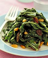 Photo of Spinach with Pine Nuts and Raisins by WW