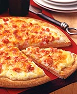 Photo of Scrambled eggs and cheese pizza by WW