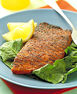 Photo of Spicy-Crusted Salmon Over Spinach by WW