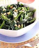 Photo of Broccoli rabe with pine nuts by WW