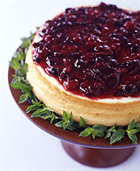 Photo of Cheesecake with cherry sauce by WW