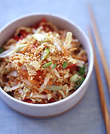 Photo of Napa cabbage and carrot slaw with miso dressing by WW