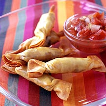 Photo of Mexican beef and cheese wontons with salsa by WW