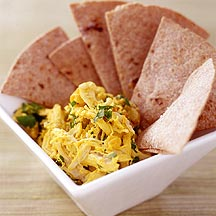 Photo of Curried chicken salad with baked whole-wheat tortilla chips by WW