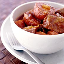 Photo of Mexican beef stew in red chile-garlic sauce by WW