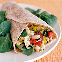 Photo of Tuscan tuna and grilled vegetable wraps by WW