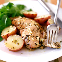 Photo of Greek lemon-chicken thighs and potatoes by WW