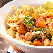 Photo of Napa cabbage, turkey, and orange salad by WW