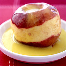 Photo of Spiced Baked Apples with Vanilla Sauce by WW