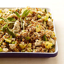 Wheat Berry and Bulgur Turkey Apple Stuffing