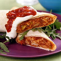 Photo of Baked turkey and Jack cheese chimichangas by WW
