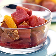 Photo of Braised rhubarb  with oranges and walnuts by WW