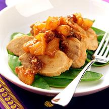 Photo of Roasted pork tenderloin with pear chutney by WW