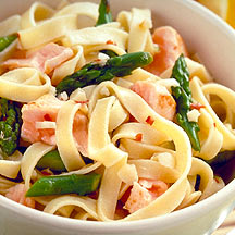 Fettuccine with Salmon and Asparagus