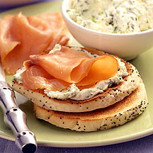 Photo of Salmon-ricotta bagel toasts by WW