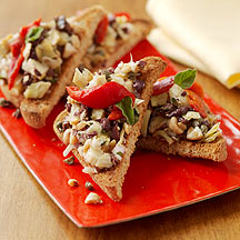 Photo of Tapas-style roasted red pepper and olive toasts by WW