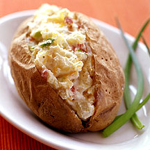 Photo of Scallion and bacon twice-baked potatoes by WW