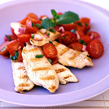 Photo of Passover chicken with tomato-mint salsa by WW