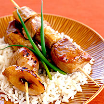Photo of Ginger pork and banana kebabs by WW