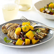 Image of Grilled Cuban Chicken with Black Bean and Mango Salsa