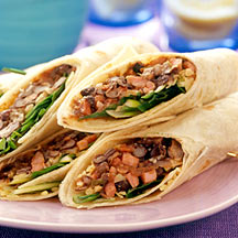 Photo of Ham and black bean wraps by WW
