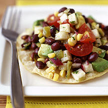 Photo of Mexican black bean salad tostada by WW