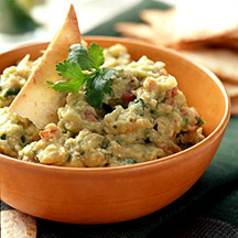Photo of White bean and avocado dip with tortilla chips by WW