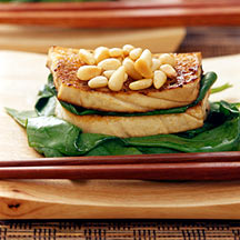 Photo of Seared tofu with garlic, Swiss chard and pine nuts by WW