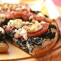 Photo of Spinach, Tomato and Feta Pizza by WW