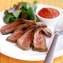 Photo of Grilled Steak with roast pepper dressing by WW