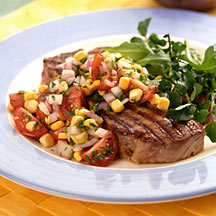 Photo of Steak with tomato and corn salsa by WW