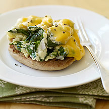 Eggs Florentine with Cheese   Weight Watchers
