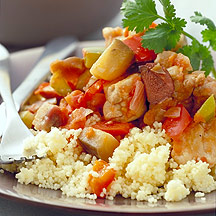 Photo of Chicken with eggplant, peppers and olives by WW