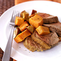 Photo of Apple-crusted veal with sweet potatoes by WW