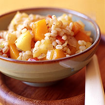 Photo of Barley with butternut squash, apples and onions by WW