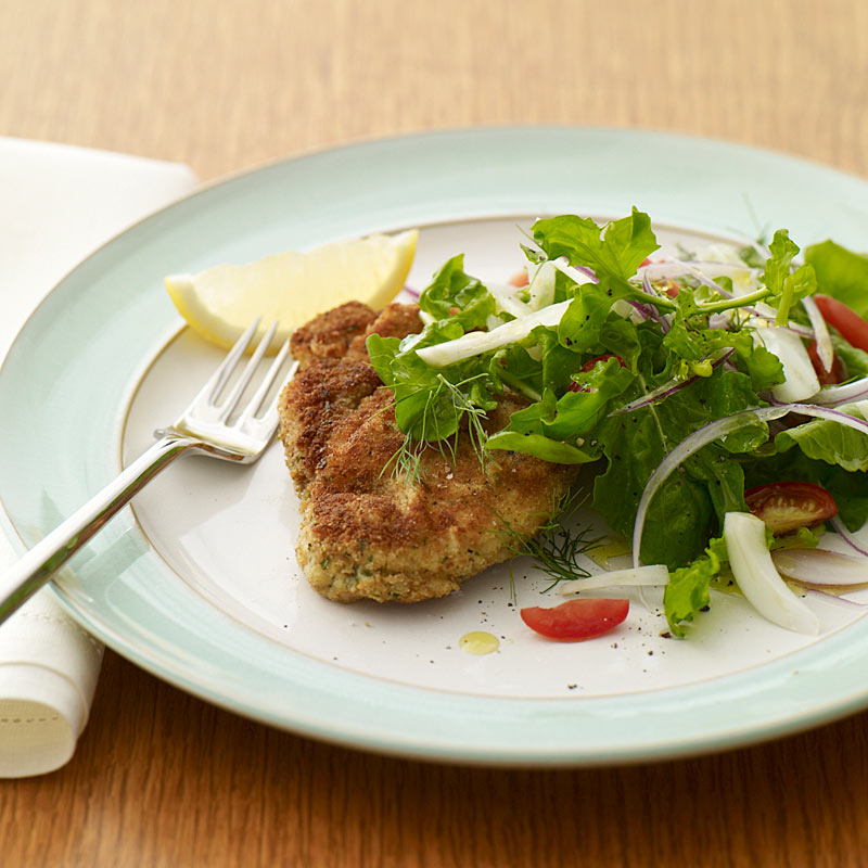 Photo of Chicken Milanese with arugula salad by WW