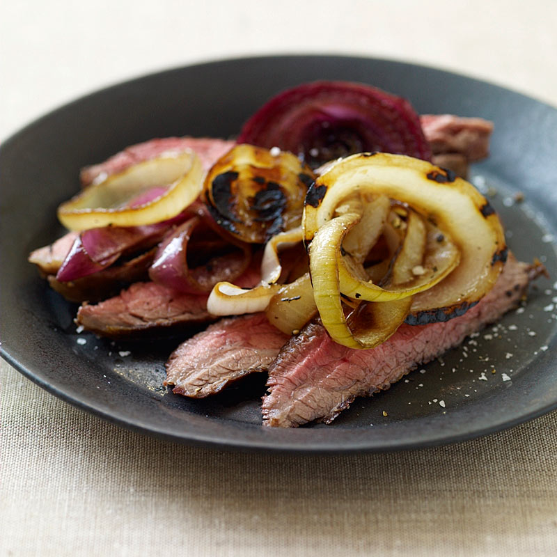 Photo of Flank Steak with Triple-Grilled Onions by WW