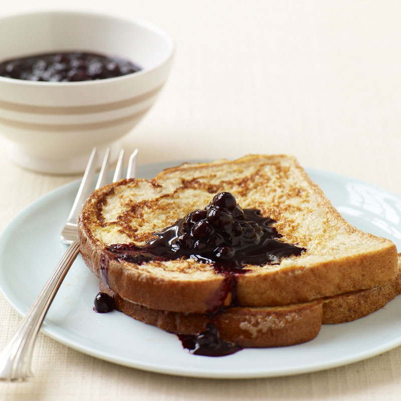Photo of French toast with blueberry sauce by WW