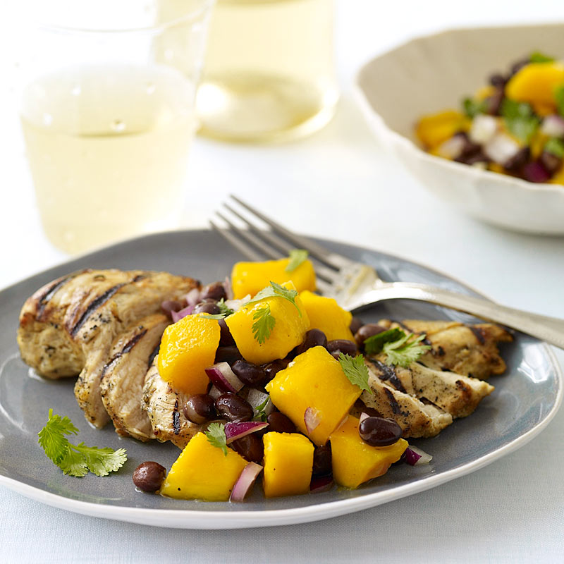 Photo of Grilled cuban chicken with black bean and mango salsa by WW