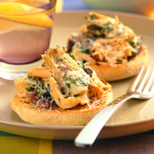 Photo of Open-faced tuna and artichoke melt by WW
