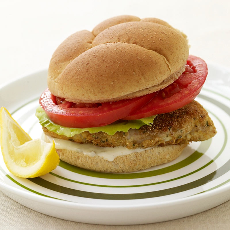 Photo of Pan-fried fish sandwich by WW