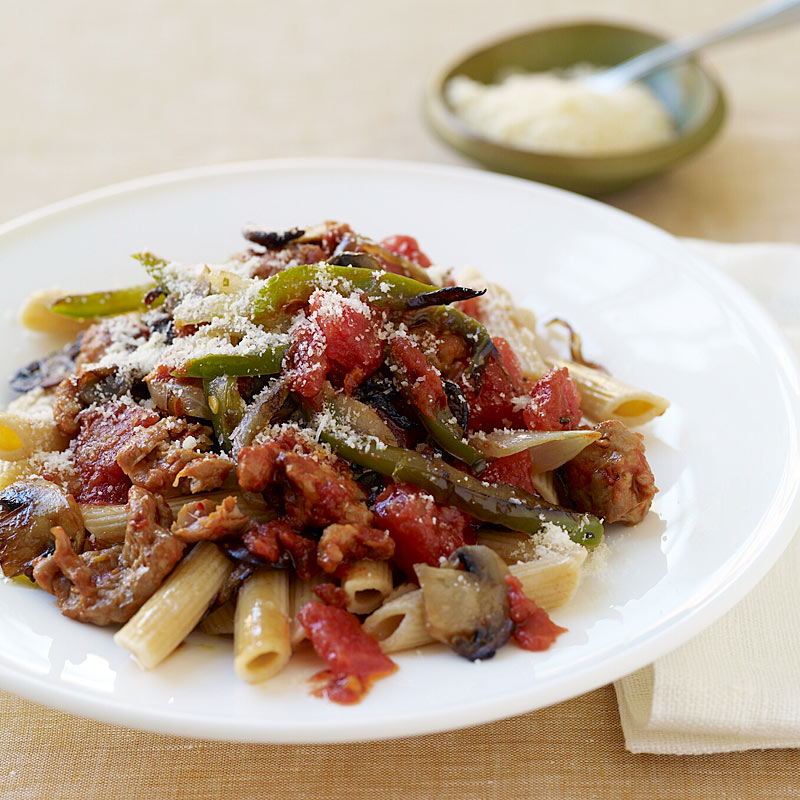 Photo of Penne with peppers and sausage by WW