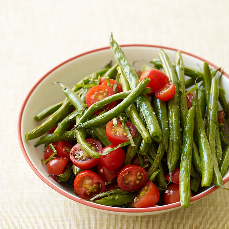 Photo of Roasted green beans and fresh tomatoes by WW