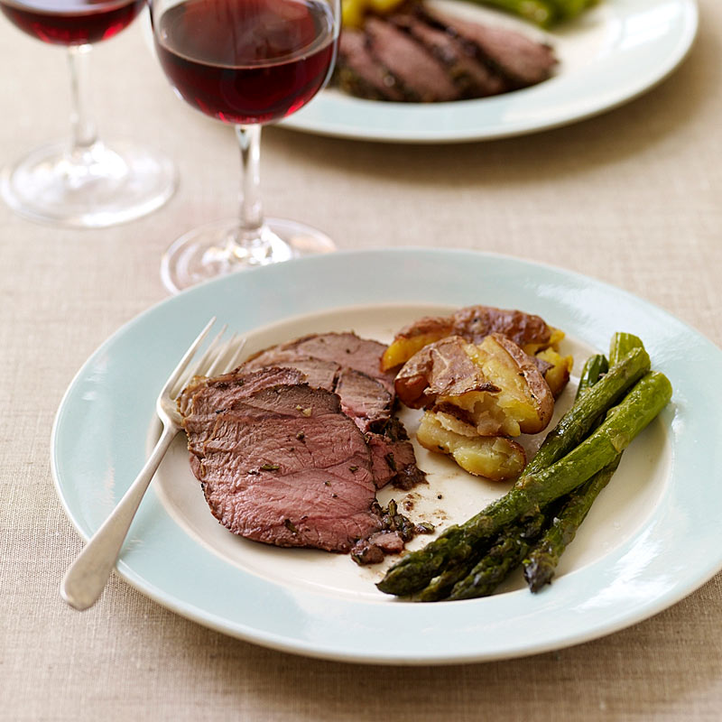 Photo of Roasted lamb with smashed potatoes and asparagus by WW