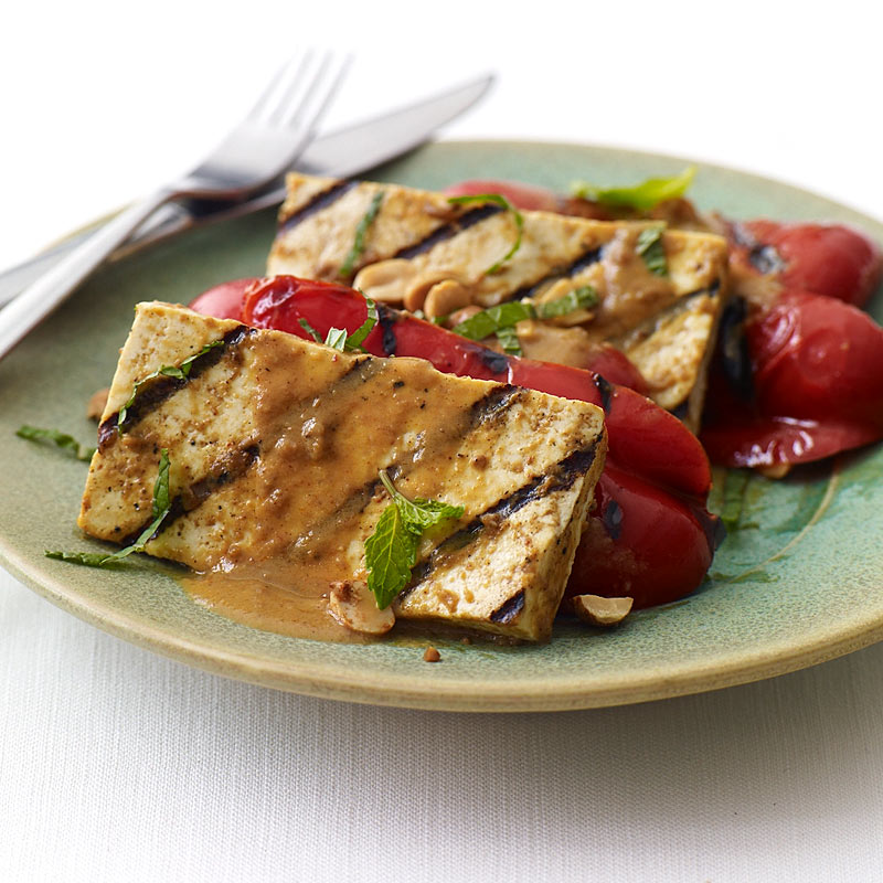 Photo of Satay grilled tofu and peppers by WW