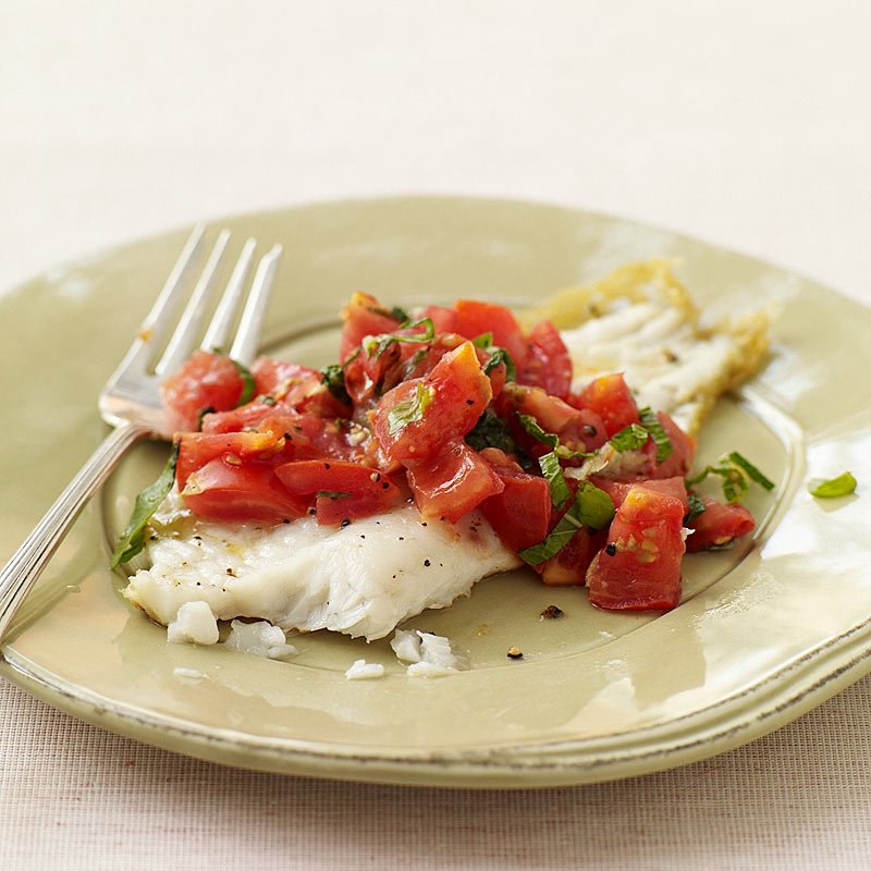 Photo of Sautéed flounder with mint and tomatoes by WW