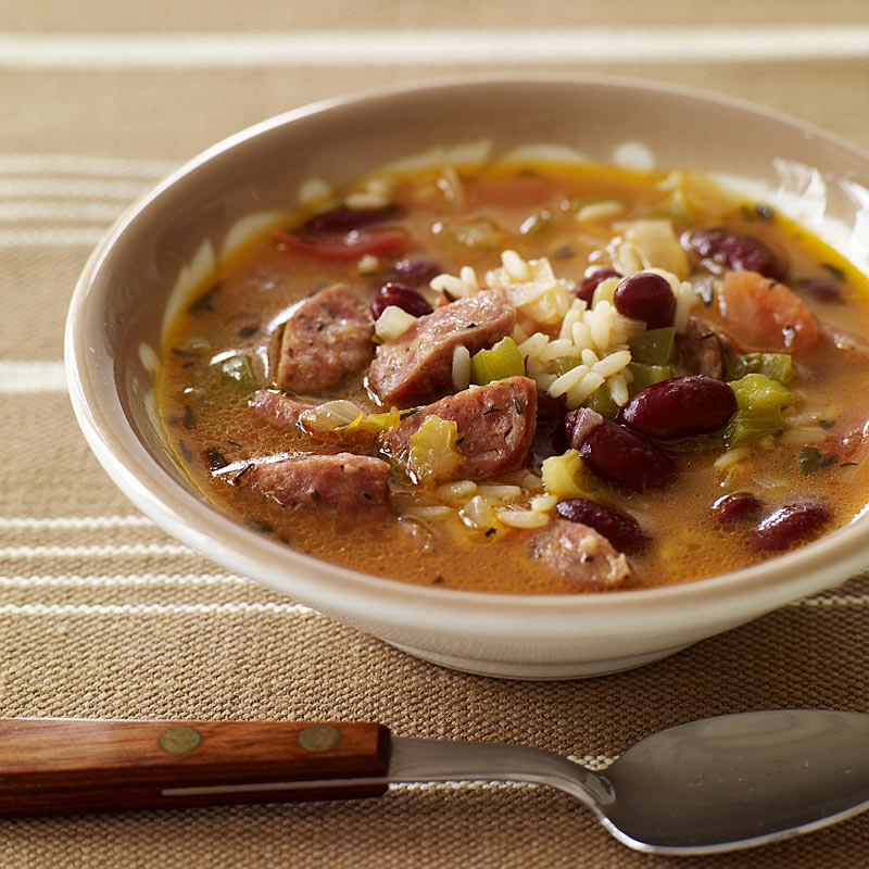 Photo of Slow cooker red bean, sausage and rice soup by WW